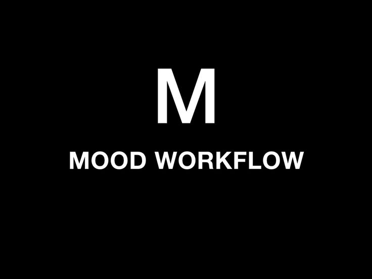 """Front Page """"Mood Workflow"""" ID CAPTION Project by Françoise Hourmand"""