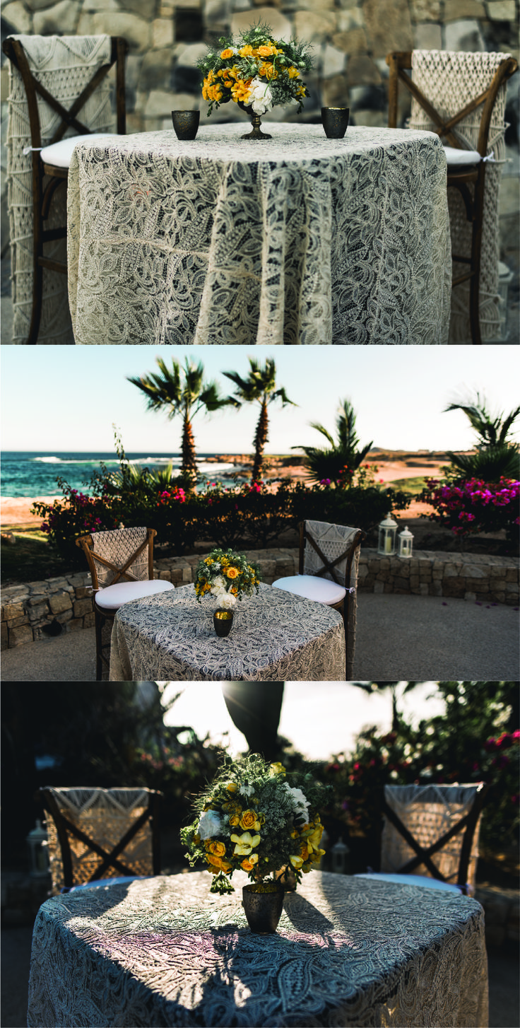 Amazing rustic decorations for your beach wedding in Cabo! Del Cabo Weddings will help you plan and design your dream wedding in the beautiful seaside!