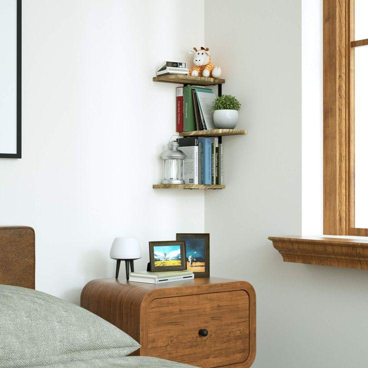 Farmhouse corner shelves rustic corner shelves