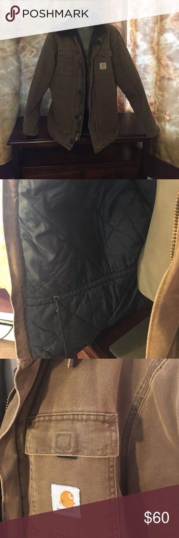 Men's jacket Men's Carhartt winter jacket. Worn a few times. Has a stain on back shoulder see picture 4. Had no size in it. Think it is an extra large. Carhartt Jackets & Coats Performance Jackets