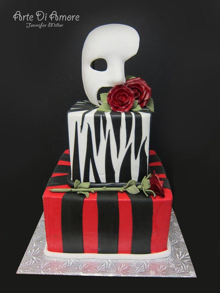 Phantom of the Opera: Phantom Parties, Sweet 16, Cakes Omg, Opera Awesome, Cakes 3, Awesome Cakes, Phantom Of The Opera Cakes, Coolest Cakes, Birthday Cakes