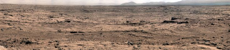 """This panorama is a mosaic of images taken by the Mast Camera (Mastcam) on the NASA Mars rover Curiosity while the rover was working at a site called """"Rocknest"""" in October and November 2012.    The center of the scene, looking eastward from Rocknest, includes the Point Lake area. After the component images for this scene were taken, Curiosity drove 83 feet (25.3 meters) on Nov. 18 from Rocknest to Point Lake. From Point Lake, the Mastcam is taking images for another detailed panoramic view"""