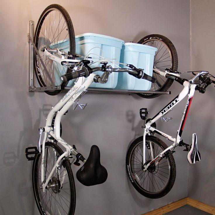 Homemade Vertical Hanging Wall Garage Bike Rack With