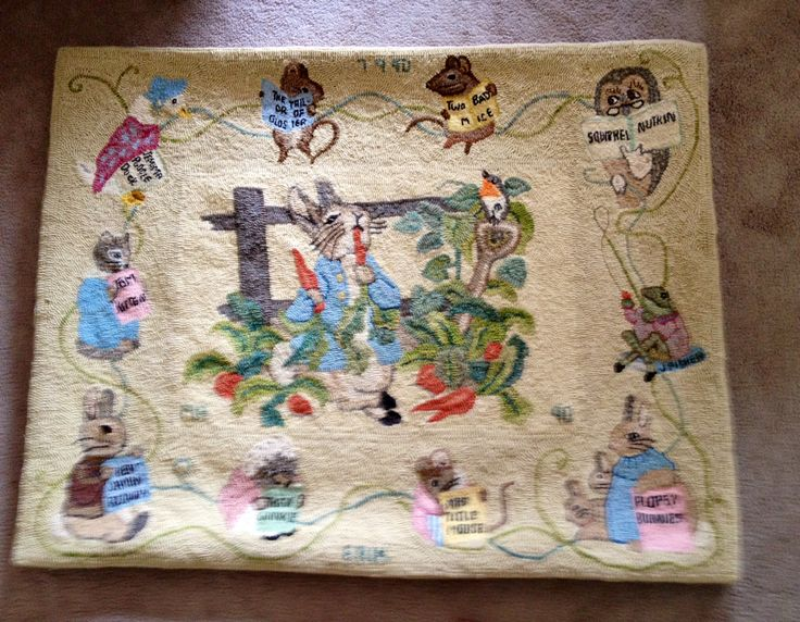 Quot Peter Rabbit And Friends Quot Rug Designed And Hooked By