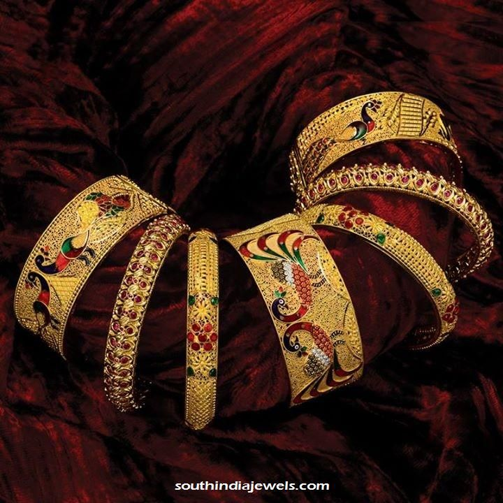 Gold Bangle Designs from GRT Jewellers