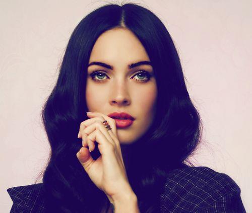 beautiful, hair, black, green, eyes