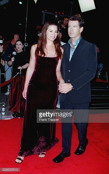 Arrival of Pierce Brosnan alias 'James Bond' with his wife Keely ShaySmith
