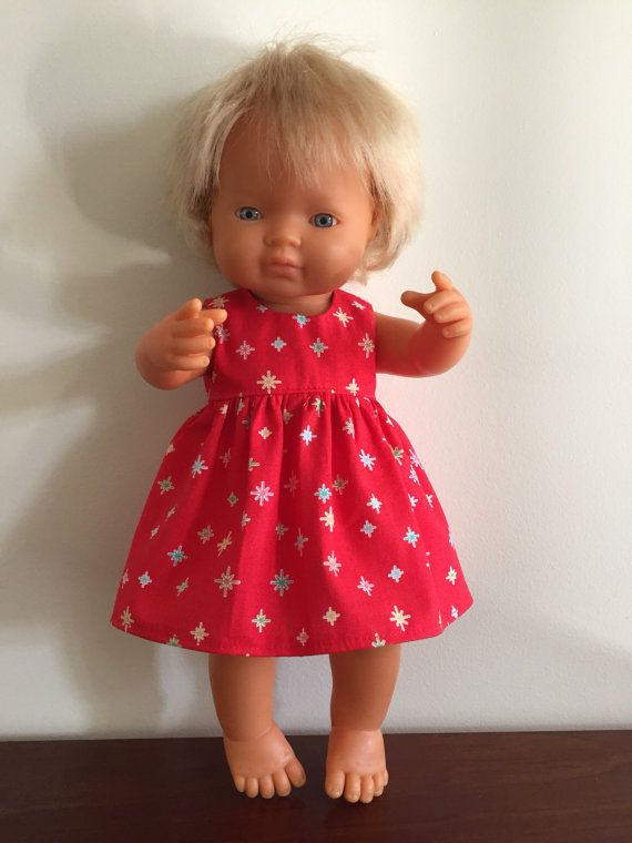 Red Sparkles Summer Dress by DebsDollsClothes on Etsy