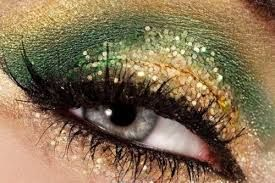 Image result for green and gold eyeshadow ideas