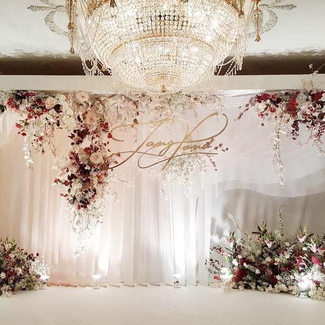 Wedding Backdrop Ide Perkawinan Dekorasi Pernikahan Pernikahan