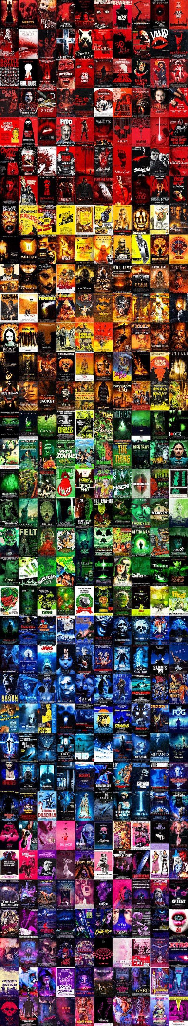 Enjoy a Rainbow of Horror Movie Posters [Halloween Treat] - Bloody Disgusting!