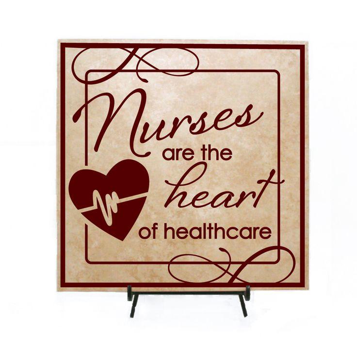 Nurses are the Heart of Heath care Sign (Wood Board or Tile) - Nurse Gift, Nurses Week, Gift for Nurses, Nursing School, Graduation by LEVinyl on Etsy
