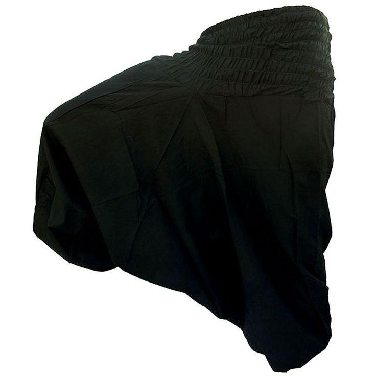 Indian Black Harem Gypsy Hippie Ali Baba Baggy Pants Trousers Boho Yoga Casual #Unbranded #Harem