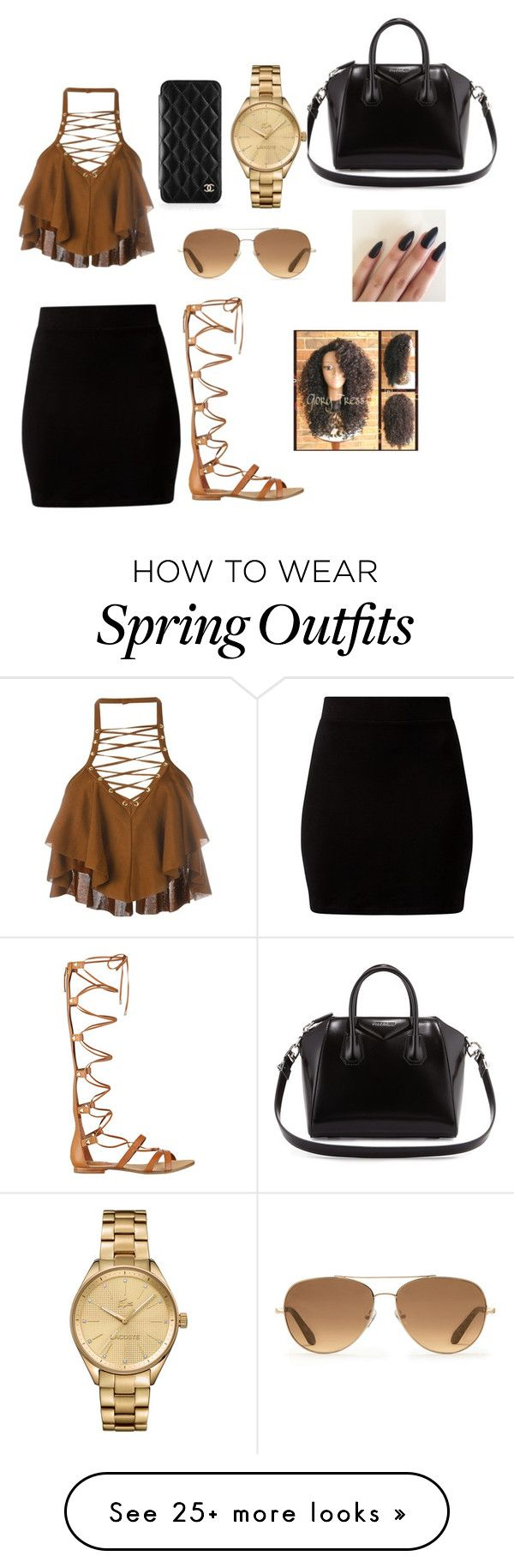 """My new 2016 shopping outfit "" by fashion-is-my-everything on Polyvore featuring Balmain, GUESS, Givenchy, Stella & Dot, Lacoste and Chanel"