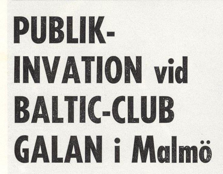 1977 Baltic Club Malmö.Galorna drog alltid mycket folk