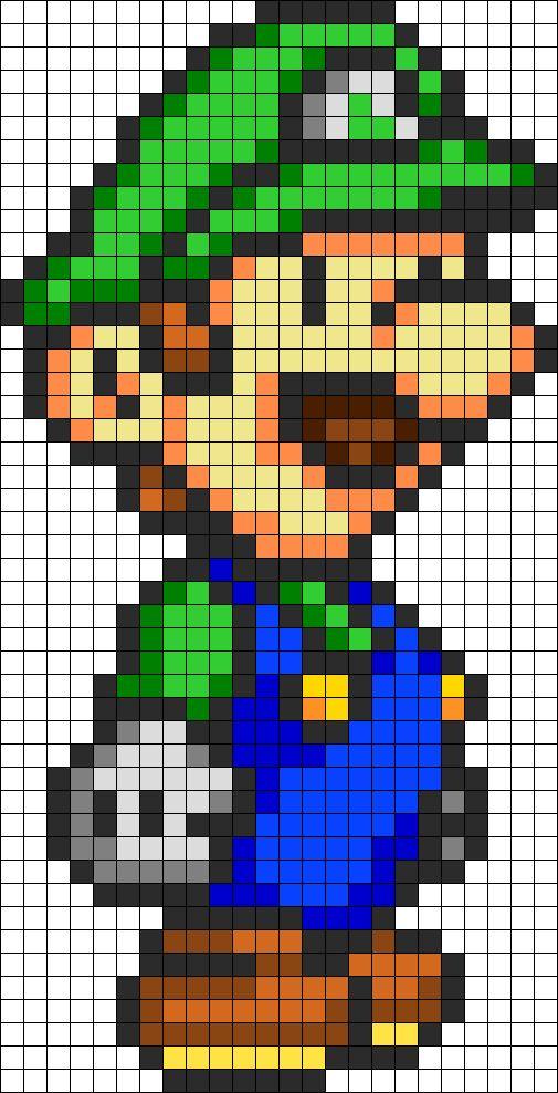 Patron Luigi pixel ganchillo