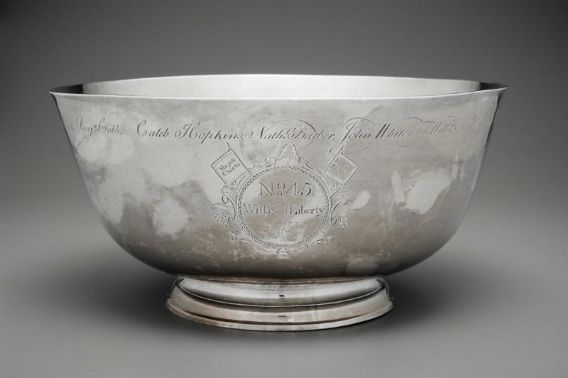 "Paul Revere, Jr. ""Sons of Liberty Bowl."" Museum of Fine Arts, Boston."