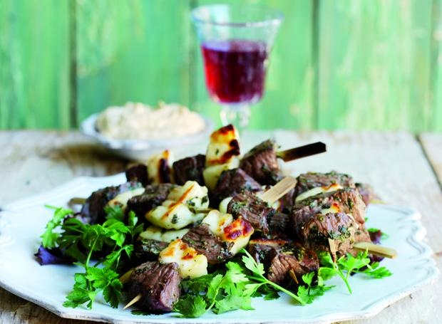 Lamb, Mint and Halloumi Kebabs - a personal fave!