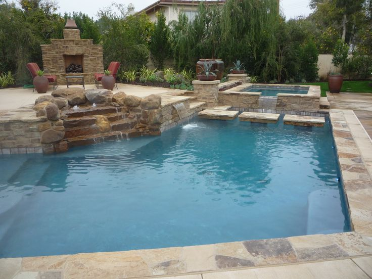 Image Detail For  Orange County Swimming Pool Landscape Design   Swimming Pool  Landscape .