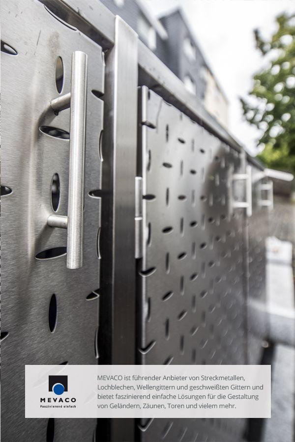 Mit MEVACO Lochblech werden selbst Müllboxen zum Hingucker und verschönern das Außenbild von Häusern. Wer sich für eine Edelstahl-Müllbox entscheidet, tut dabei sogleich Gutes: Denn die Boxen werden in der JVA Remscheid hergestellt. Mehr unter http://www.mevaco.de/fascination-47 #MEVACO #Lochblech #Edelstahl #Creativ-Line-Ellipse #FaszinationNo47