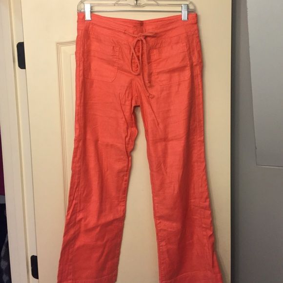 Level 99 Coral Capri Pant Coral Level 99 Pant, 51% Linen, never been worn, Size 27 Level 99 Pants Capris