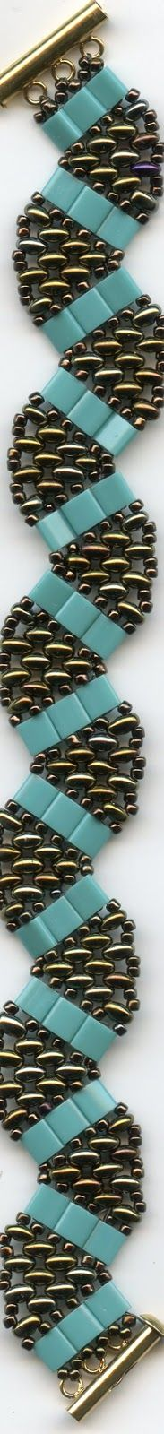 Twins and Tilas. NOTE: This doesn't link. If you look closely, the pattern might be obvious. #Seed #Bead #Tutorials