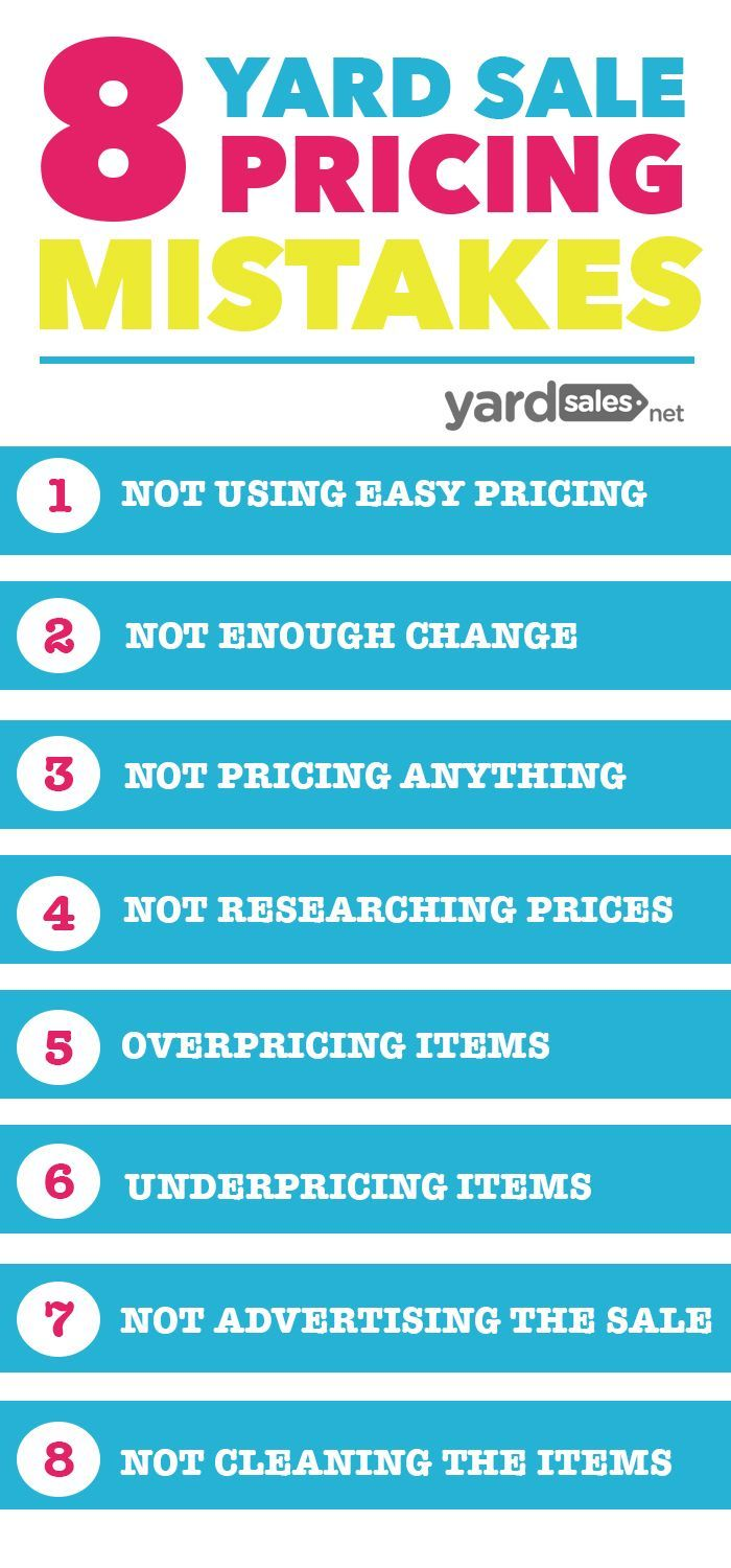 Having a yard sale soon? Check out this list of pricing strategies that you'll want to avoid if you want to have a successful and profitable garage sale.