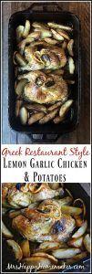 Greek Restaurant Style Lemon Garlic Chicken & Potatoes – Mrs Happy Homemaker