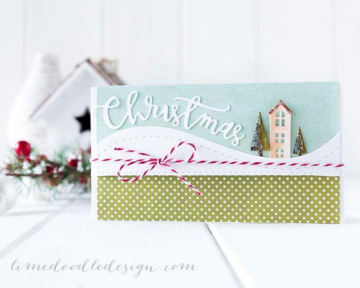 Gift card/money envelope. For more please visit http://limedoodledesign.com/2014/12/gift-card-envelope/ Debby Hughes - Lime Doodle Design - #gift #card #money #envelope #christmas