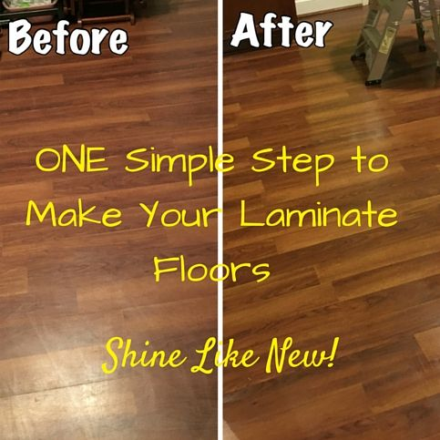 Laminate Floors – Make Them Shine Again! Easy DIY step to make laminate floors shine like new!