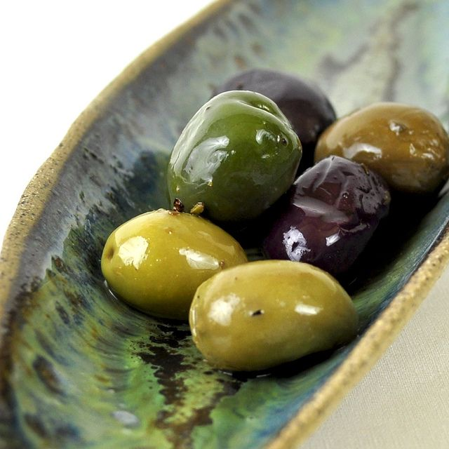 olives; great color palette for Italian home.  Starting to have a taste for olives when drinking wine.