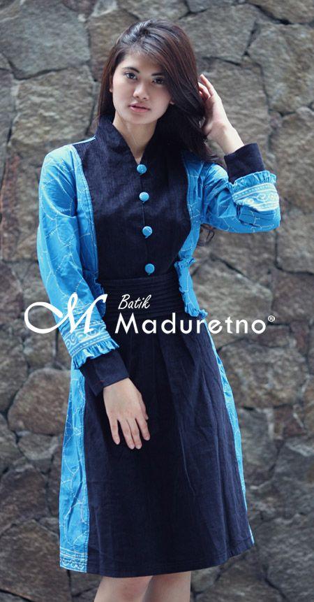 busana kerja wanita modern berbahan batik tulis madura visit our website : batikmaduretno.com