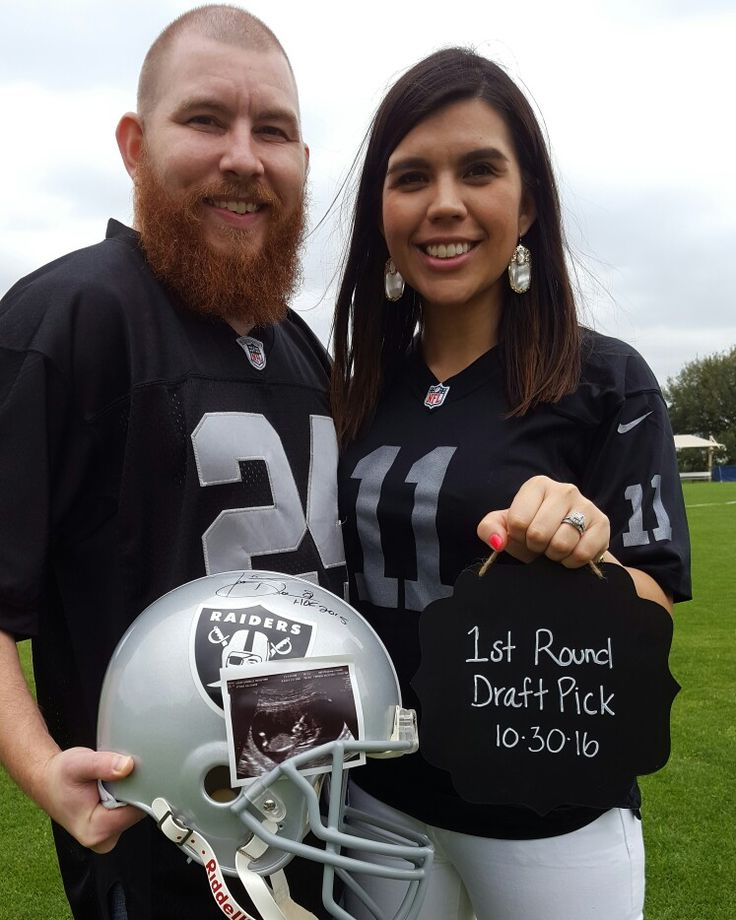 Baby Announcement Photo Pregnancy Announcement Photo – Football Birth Announcements