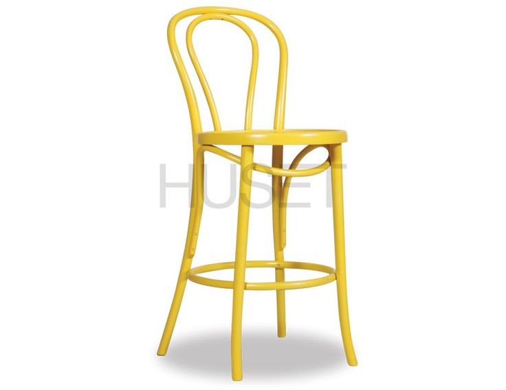 Yellow Thonet Bar Stool