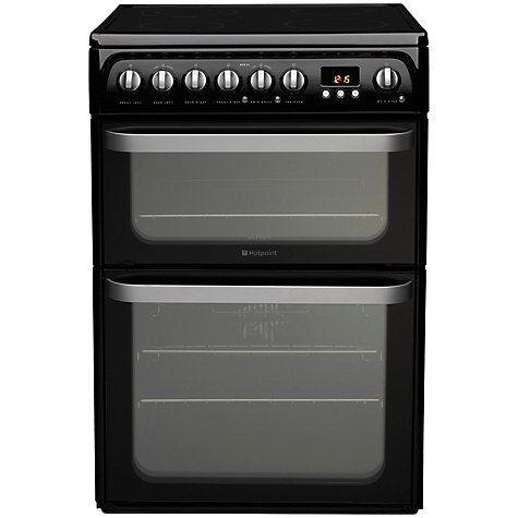 Buy Hotpoint HUE61KS Electric Cooker, Black Online at johnlewis.com