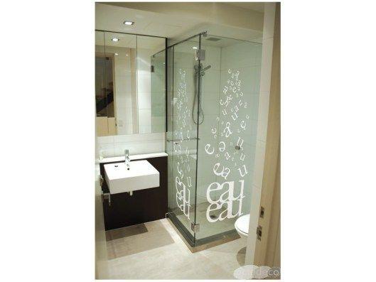 Decoration Chambre En Rouge Et Noir : idée #deco porte de douche #salle de bain