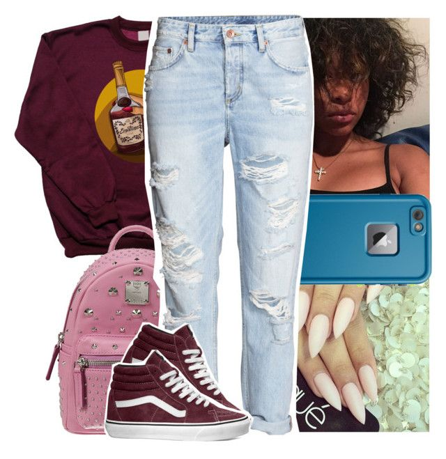 """Basic lil set🖖🏼"" by theyknowtyy ❤ liked on Polyvore featuring MCM, LifeProof and Vans"