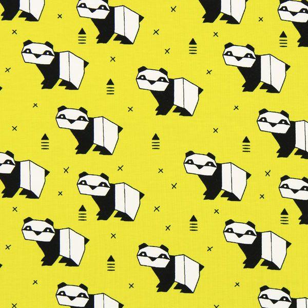 single jersey origami orso - giallo curry - Altri tessuti in Jerseyfavorable…