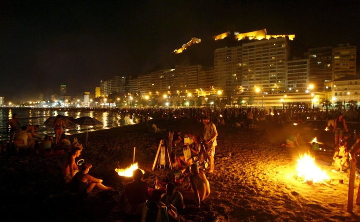 Noche de san Juan Alicante Spain