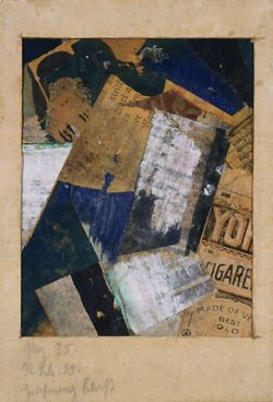 Kurt Schwitters, Merz Drawing 75 (Merzzeichnung 75), 1920, Paper and fabric collage, tempera, ink and graphite on paper, 14.6 x 10 cm Peggy Guggenheim Collection, Venice  © Kurt Schwitters, by SIAE 2008