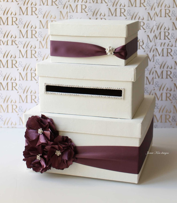 Typical Cash Wedding Gift: Wedding Card Box Money Gift Holder Custom Made To Order