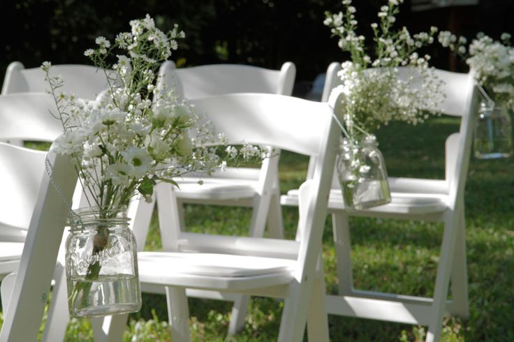 Our White Americana chairs set for a lovely wedding ceremony. http://www.edeevents.com.au/white-americana-chair