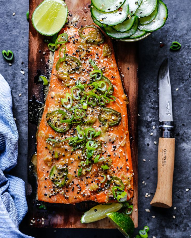 This Sesame-Ginger Cedar Plank Salmon will be on repeat this summer. It's super easy to make and clean-up is virtually non-existent!