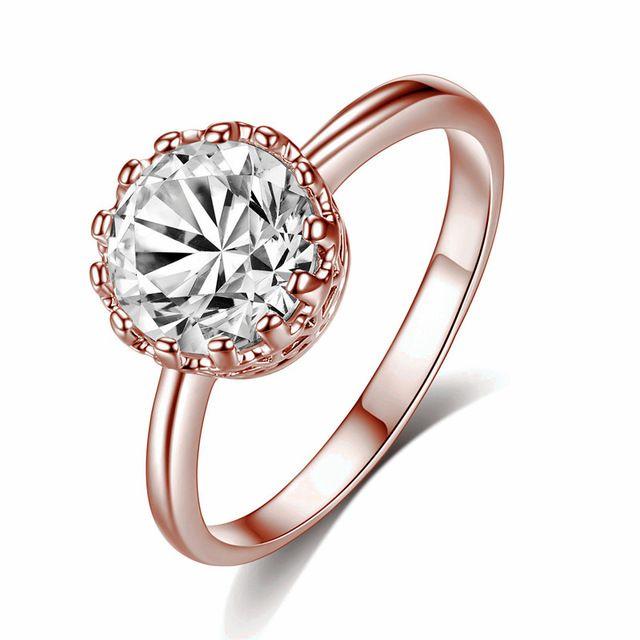 Высота: Hyde Мода Корона женские золотые цвет cz обручальные кольца Размер 7/8/9 кубический циркон Кристалл кольцо