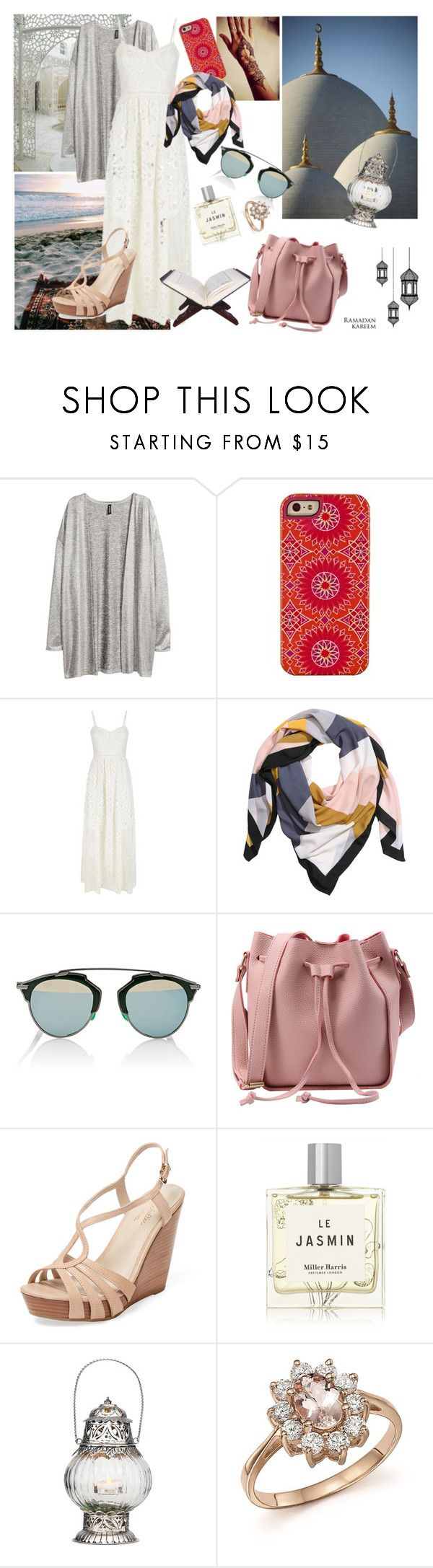 """ramadan/hijeb night 27**...laylat al qadr"" by rosesophiawalker ❤ liked on Polyvore featuring Hai, H&M, Juicy Couture, Christian Dior, Seychelles, Miller Harris, Cultural Intrigue and Bloomingdale's"