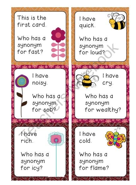 Coöperatief leren - synoniemen, antoniemen, woordenschat