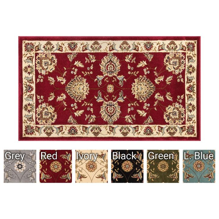 "Well Woven Abbasi Red Traditional 2'3"" x 3'11"" Door Mat Rug (3600)"