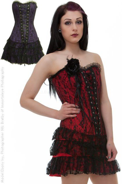 45 best Gothic corset dresses images on Pinterest | Corset dresses ...
