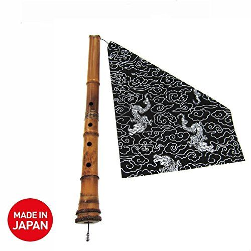 Shakuhachi Flute Cleaning Cloth Tsuyukiri/Tsuyutoshi from Japan, Cotton (Black)  Japanese shakuhachi cleaning cloth, tsuyukiri, tsuyutoshi