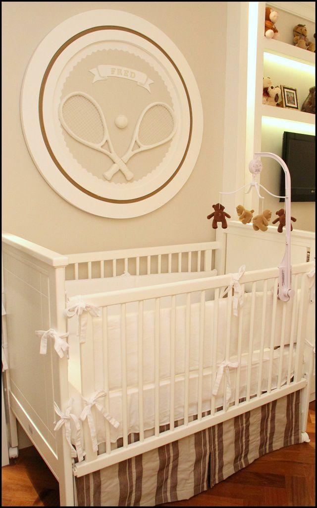Tennis inspired Baby boy's nursery 3
